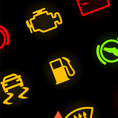 car dashboard control lights